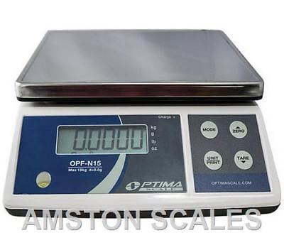 3000 x 0.1 GRAM  DIGITAL SCALE BALANCE 11 x 8 STEEL PLATFORM PHARMACY BENCH GOLD