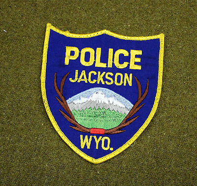 29054) Patch Jackson Wyoming Police Department Insignia Sheriff