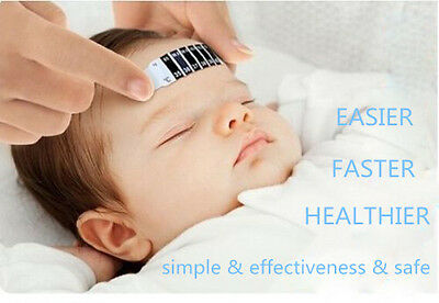 10 pcs Forehead  Strip Thermometer Fever Body Baby Child Kid Test Temperature