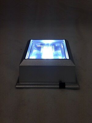 Clear/ White Color Square Crystal Display 4 LED Light Base