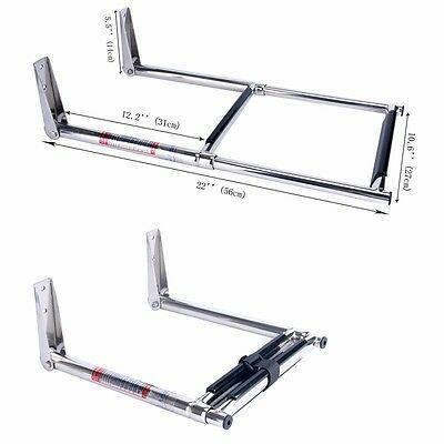 2 Step Stainless Steel Telescoping Boat Ladder Swim Step new