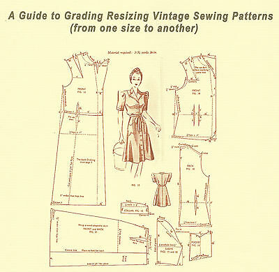 """BOOKLET - """"A Guide to Grading Resizing Vintage Sewing Patterns"""""""