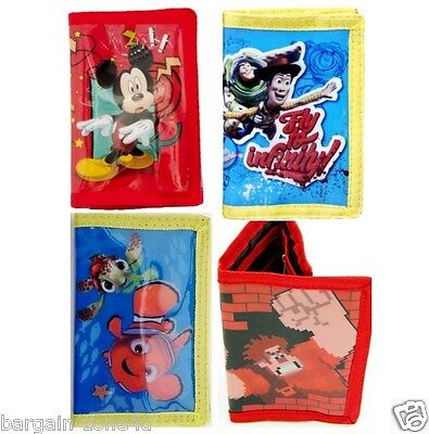 Multi Design kids Boys Girls Disney Coin Money Pouch Wallets Purse Party Gift