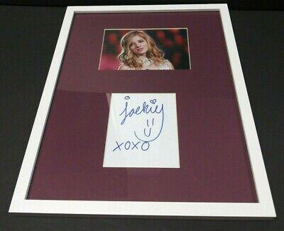 JACKIE EVANCHO Signed + Framed 11x14 Photo Display