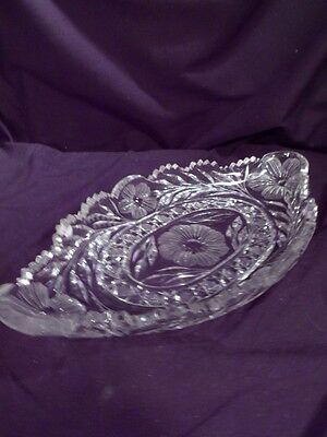 Large Ice Cream Tray, American Brilliant Period, Glass, Crystal