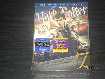 Harry Potter and the Deathly Hallows Blu-ray ULTIMATE EDITION Parts 1 & 2 NEW