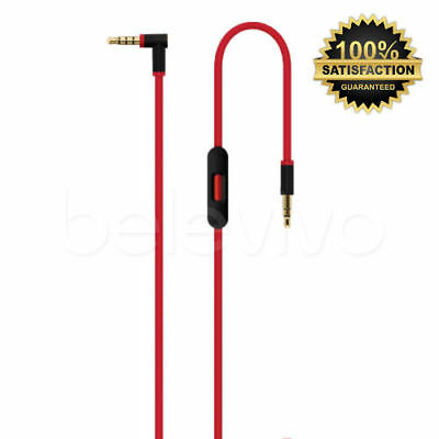Replacement V2 3.5mm Jack Remote Mic Control Talk Cable Lead for Beats by Dr Dre