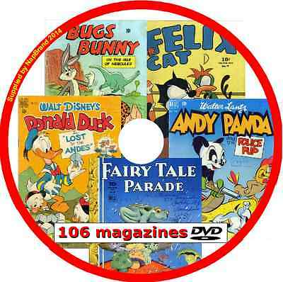 Donald Duck, Bugs Bunny, Felix the Cat, Andy Panda &more Comics DVD 106 issues