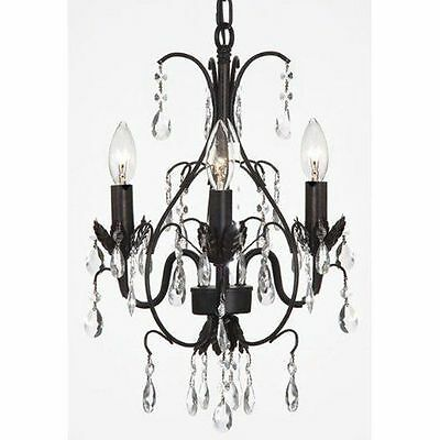 ***RETURNS AS IS*** crystal chandelier lighting pendant ceiling