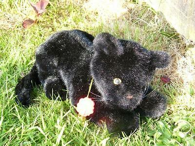 BEAUTIFUL VINTAGE BLACK PANTHER CAT BY HERMANN WITH TAGS