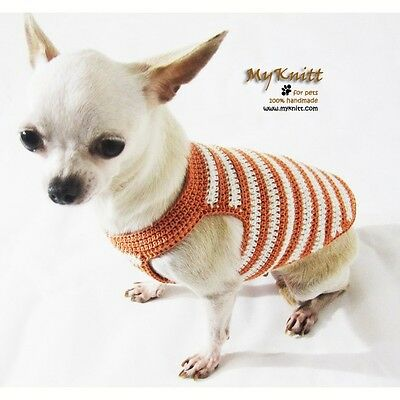 Casual Dog Shirts Cute Pet Clothing Rustic Puppy Clothes Handmade Crochet DK972