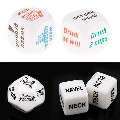 Hot Funny Drinking Sex Adult Love Craps Gambling Romance Erotic Dice Toy Gifts