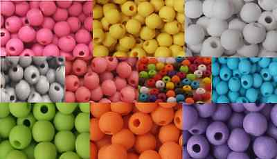 400 Colour Acrylic Opaque Round Frosted Beads 6mm
