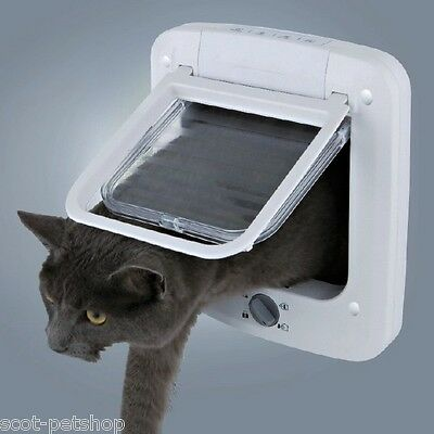 Trixie 4 Way Cat Flap Silent Fitting