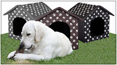 Extra Large Dog House XXL Kennel Dogs Pet Home Cat Bed Fabric Shepherd + Pad