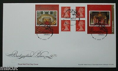 PM42 2014 BUCKINGHAM Palace Booklet FIRST DAY COVER FDC Special Handstamp (1)
