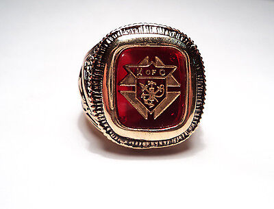 KNIGHTS OF COLUMBUS MEN's RING SIZE 12 -RED COLOR -KC12