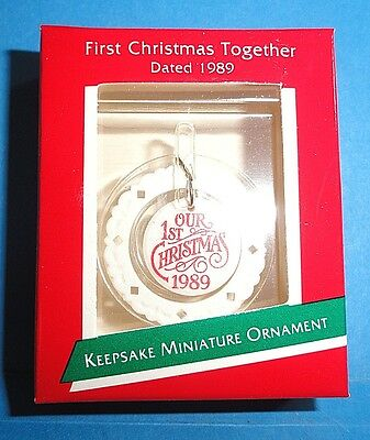 "Hallmark ""First Christmas Together"" Miniature Ornament 1989"