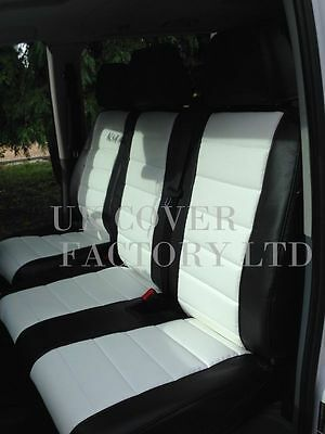 Mercedes Vito Van Seat Covers- White  Quilted PVC Leather- Made to Measure