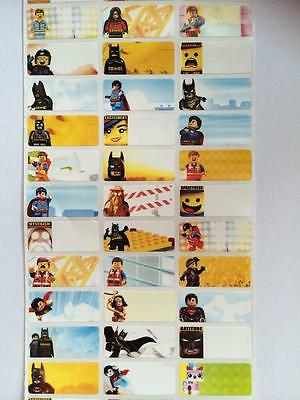 120 Movie Lego pictures personalised name label (Small size)