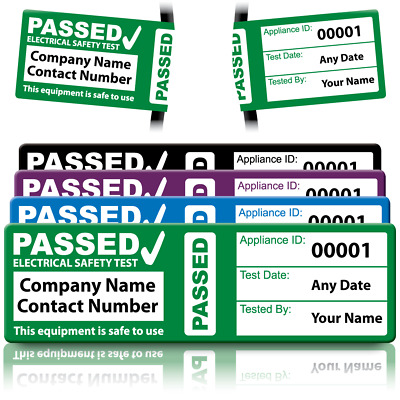 Personalised 4th Edition PAT Wrap Labels for PAT Testing - Extremely Durable