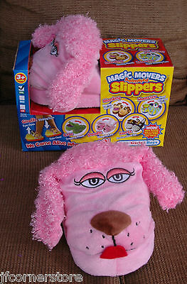 Brand New Pink Poodle Animated Slippers-Magic Movers-Moving Ears Clearanc