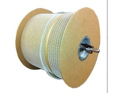 1/4 in. White 3:1 Pitch Double Loop Binding Wires 80,000 Loops/Spool Binding