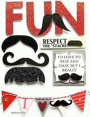 Mambi - Me & My Big Ideas Soft Spoken Stickers - Ss1325 - Moustache Fun