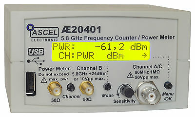 AE20401 5.8 GHz Frequency Counter / RF Power Meter / Pulse Counter Kit