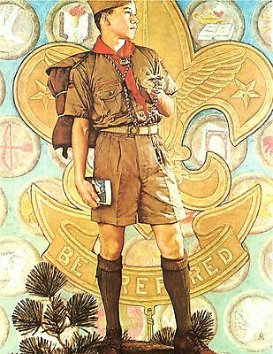 Norman Rockwell Boy Scout Print TOMORROW'S LEADER 1959