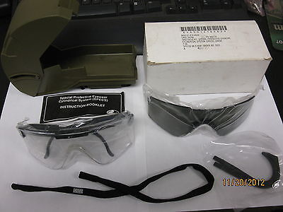 Army 306774 Ballistic and Laser Protective Glasses Clear and Tinted Lens Case