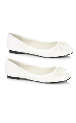Adult Womens White Ballet Flats Tin Woman Shoes Costume Accessory