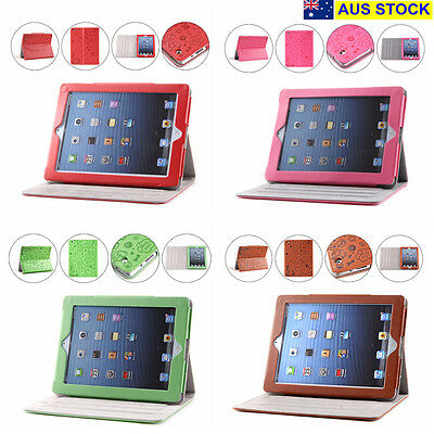Apple iPad 2,3 Case Cover Protector with Stand PU Leather 4 Colors NEW (C01)