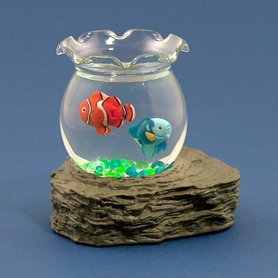 Magnetic Moving Fish In Bowl Battery Operated Desk Water Feature