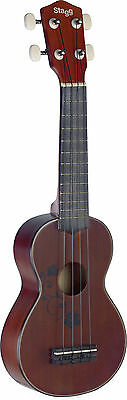 Stagg US20 Flower Soprano Ukulele with Gig Bag