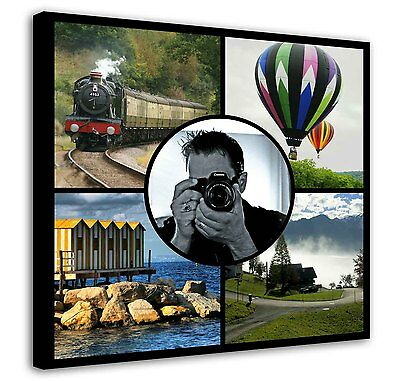 Personalised Photo Collage Canvas Print - 5 Photos -  Ready to hang