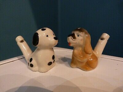 Russian Pottery Toy Whistle Bird Shape Water Hand-Made Collect Them
