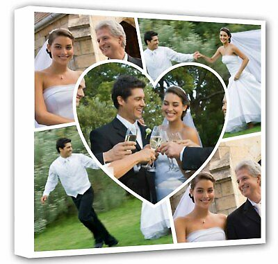 Personalised Framed Canvas Collage Print Photo Image - Ready to hang