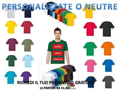 T-Shirt Maglietta Manica Corta Uomo Fruit Of The Loom  Personalizzabile 0610820