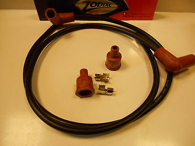 Zodiac Spark Plug Wire Set (Ht Leads) Black With Red Ends Copper Core Bc15890 -T