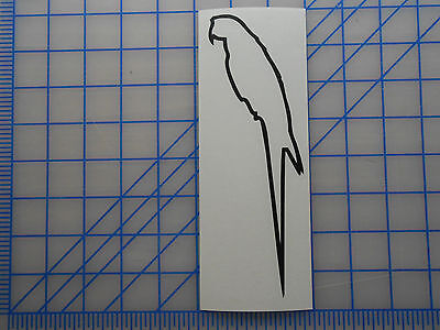 """Macaw Outline Decal Sticker 5.5/"""" 7.5/"""" 11/"""" Parrot Hyacinth Blue Yellow Red Wing"""