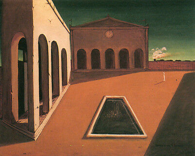 The Delights of the Poet  by Giorgio de Chirico   Giclee Canvas Print Repro