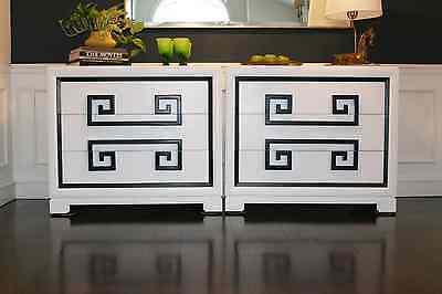 Vtg Hollywood Regency/Mid Century Kittinger Greek Key Chest /Dresser James Mont