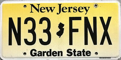 New Jersey GARDEN STATE License Plate - SPRINGSTEEN BON JOVI ATLANTIC CITY
