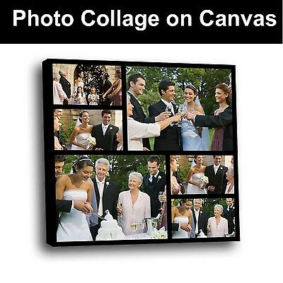 Your Photo Collage Canvas Print - Personalised 20x20 inch on Box/Wrapped