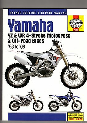 Yamaha Yz & Wr 4-Stroke M/cross & Off Road 98-08 Service, Repair Workshop Manual