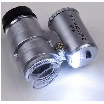 LED-Lighted45X Loupe for US Coins Gold Coin Dollar Coin Error Coins
