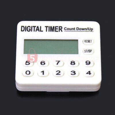 Durable LCD Display Digital Count Up Down Alarm Timer Kitchen Cooking Convenient