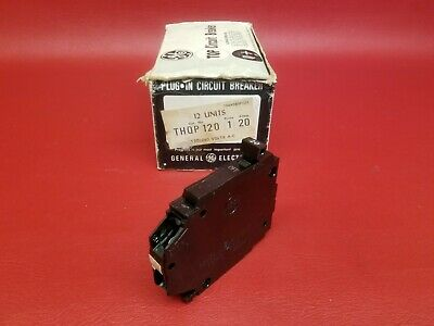 20 Amp 1 Pole Single Pole  Thin General Electric GE Breaker Type THQP120