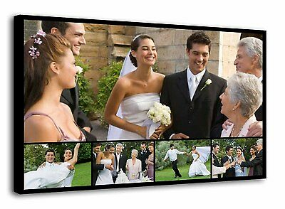 Personalised  Canvas Collage Print Photo Image Framed - ready to hang f111